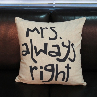 kussens Mr right en mrs always right