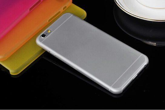 iPhone 6 plus lichtgrijs transpirant case