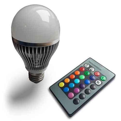 2x led rgb lamp 9w e27 met afstandsbediening 2495