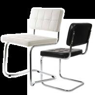 Bauhaus stoelen zwart en wit