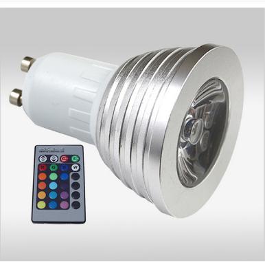 2x rgb led lampen gu10 voor 29 95 incl verzending for Led lampen gu10