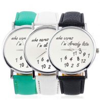 who-cares-iam-already-late-horloge