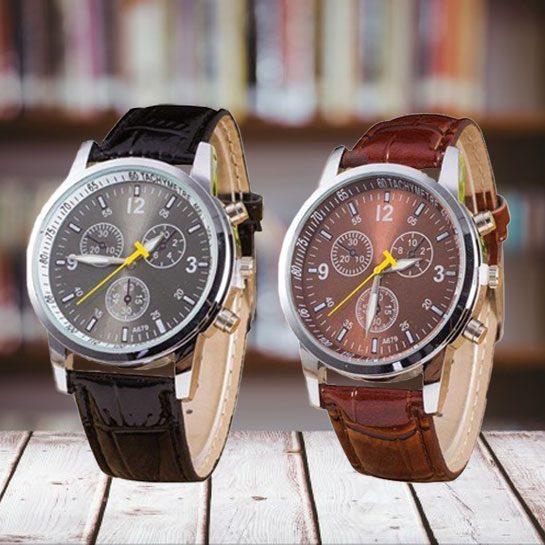 RVS horloge aanbieding