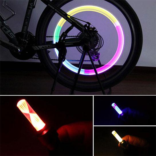 2 KEER LED fietsverlichting voor in je wiel met 31% KORTING