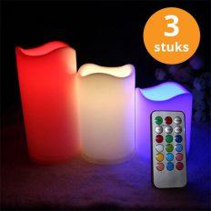 RGB-LED-kaarsen