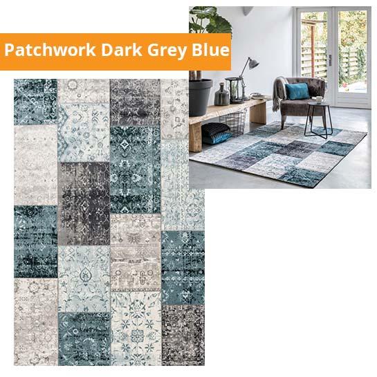 Patchwork Dark Grey Blue