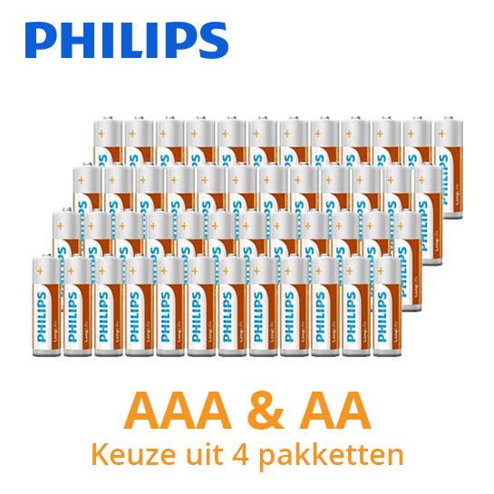 Philips-LongLife-batterijen