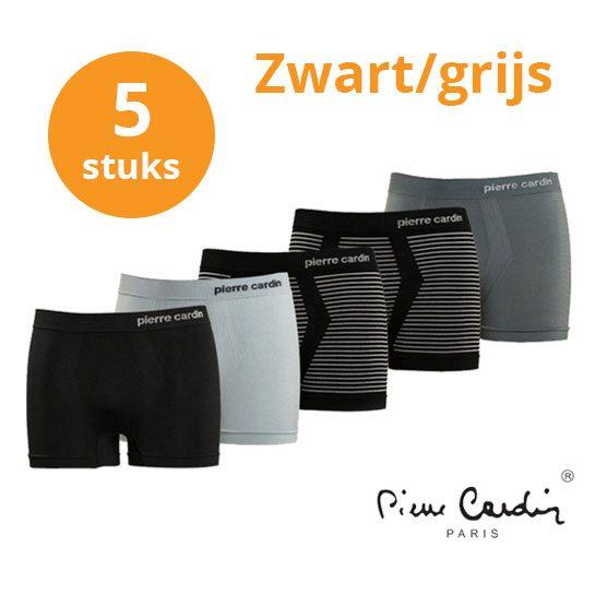 Pierre-Cardin-zwart-grijs-boxers