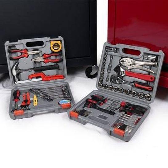 Toolwelle-gevulde-gereedschapswagen