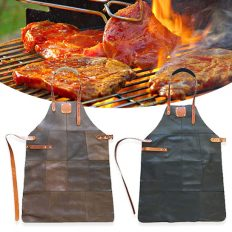 Lederen-schort-BBQ