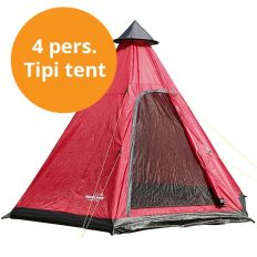 Tipi tent rood