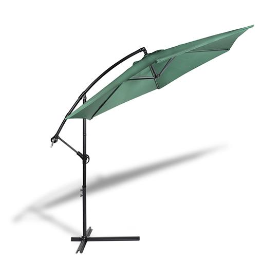 Hangende Parasol Groen Vrijstaand 1