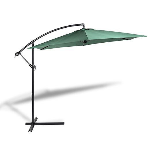 Hangende Parasol Groen Vrijstaand 2