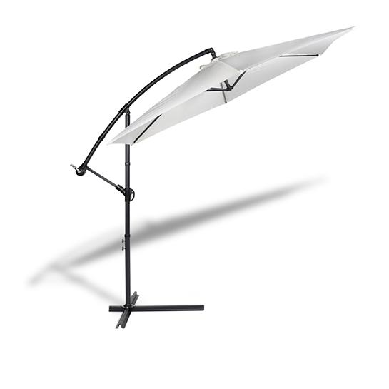 Hangende Parasol Wit Vrijstaand 2