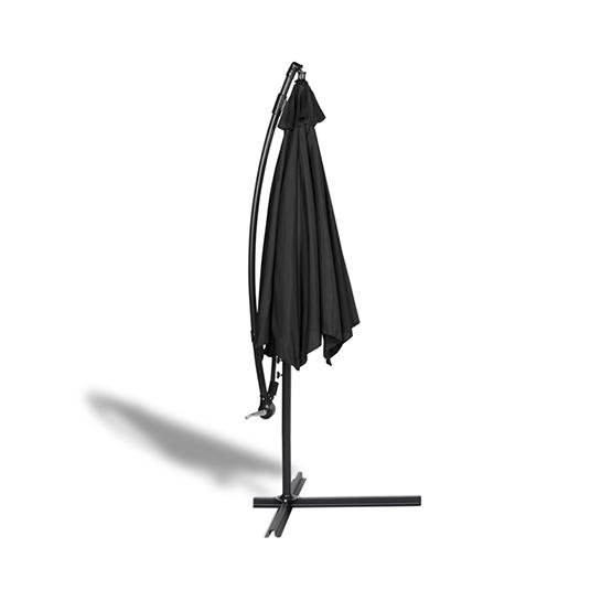 Hangende Parasol Zwart Vrijstaand 3