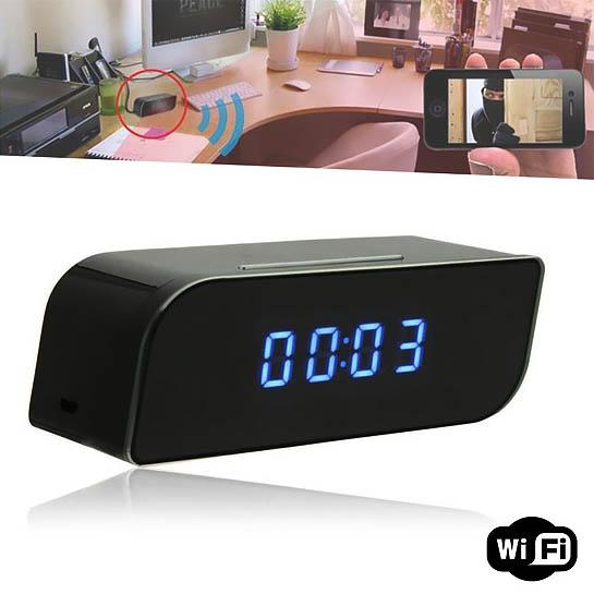 HD Wifi ip spy camera klok nachtzicht