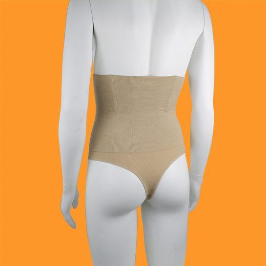 Corrigerende string achterkant beige