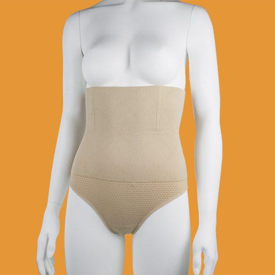 Corrigerende string voorkant beige