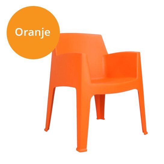Tuinstoel-oranje