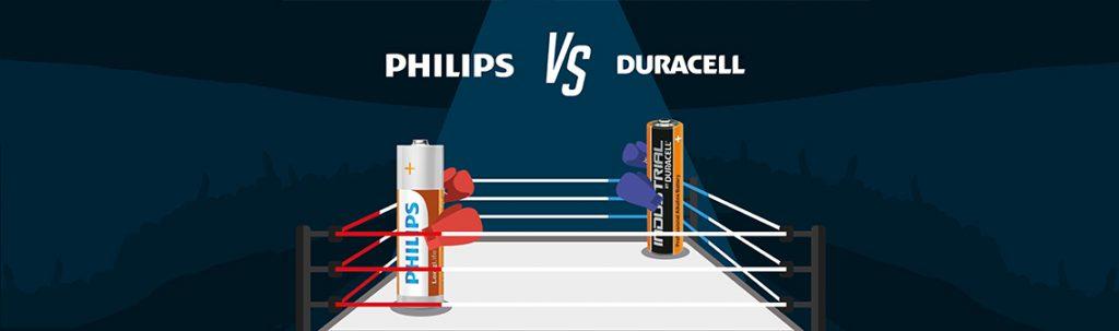 Duracell vs Philips banner