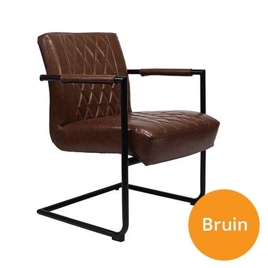 Kensington-stoelen-bruin