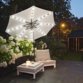 LED-Parasol-Creme