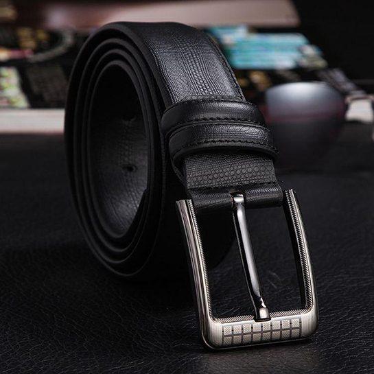 RGC stijlvolle lederen riem zwart