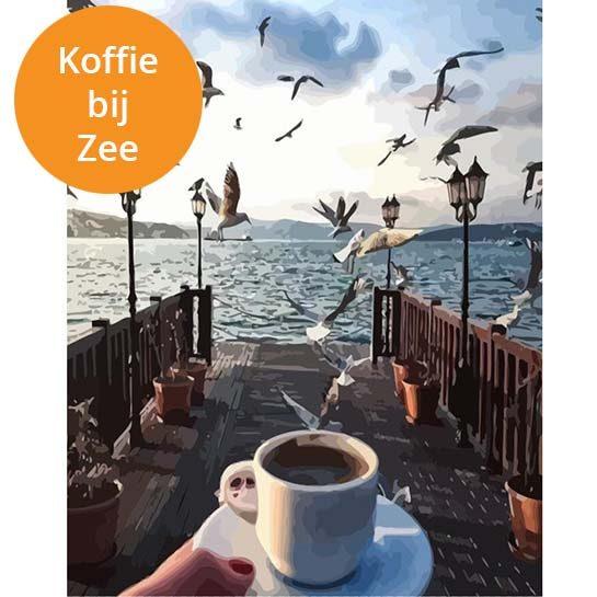 Koffie bij zee