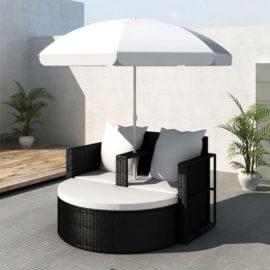 Loungebed-set-met-parasol
