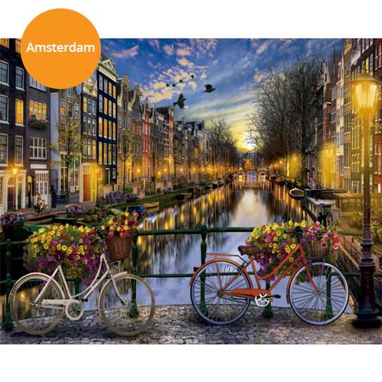Schilderij-Amsterdam
