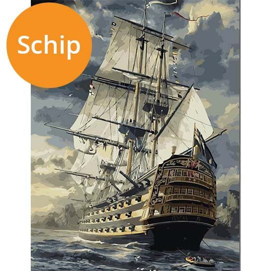 Schip-paint-by-numbers