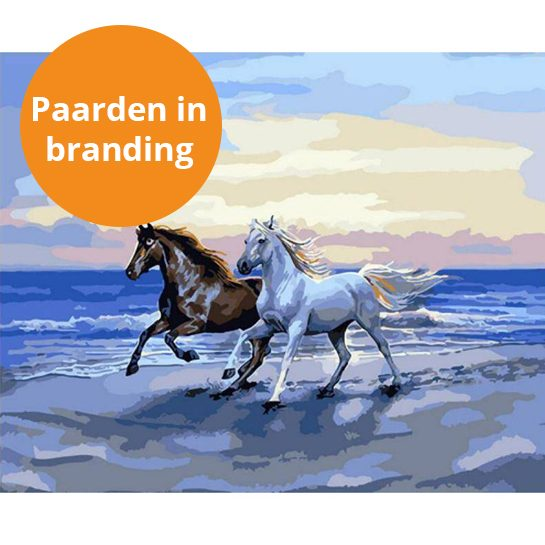paarden in branding