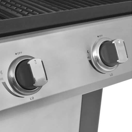 Gasbarbecue en grill