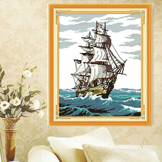 Golden Panno Borduurwerk schip