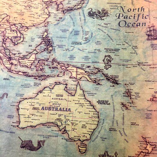 Vintage-wereldkaart