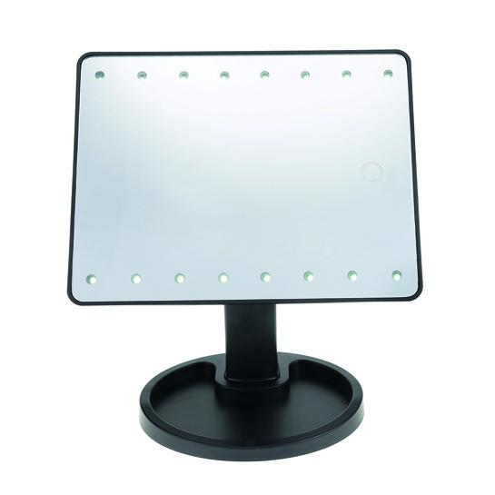 touch screen make up spiegel met led verlichting webshop aanbiedingen tegen outlet. Black Bedroom Furniture Sets. Home Design Ideas