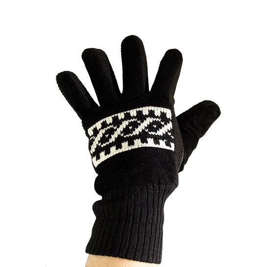 Handschoen Zwart Voorkant