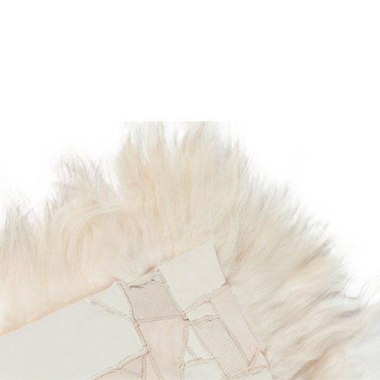 Stoelkussen van IJslands schapenvacht wit