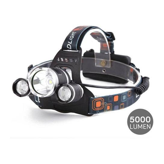 Led Hoofdlamp 5000 Lumen Herlaadbaar Zwart