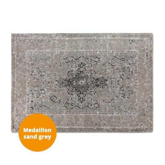 Medaillon Katoen Sand Grey 3