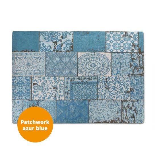 Patchwork Katoen Azur Blue 3