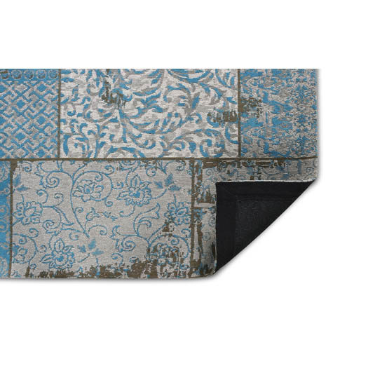 Patchwork Katoen Azur Blue Grey 1