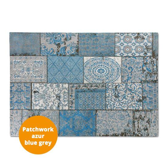 Patchwork Katoen Azur Blue Grey 3