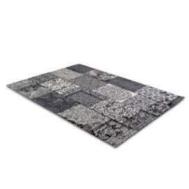 Patchwork Katoen Black Grey 2