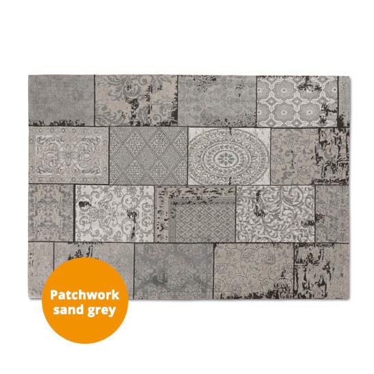Patchwork Katoen Sand Grey 3