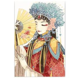 Chinese Vrouw Met Waaier
