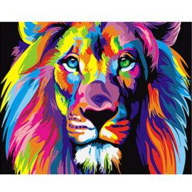 Colourful Lion Schilderen Op Nummers