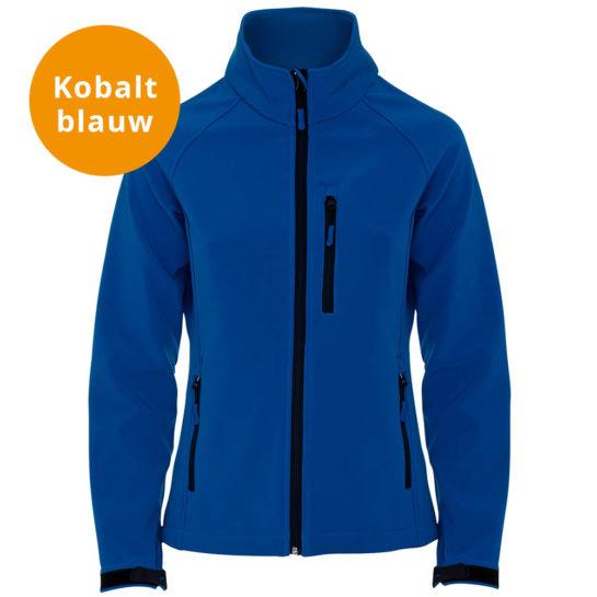 Kobalt Blauwe Softshell Jas