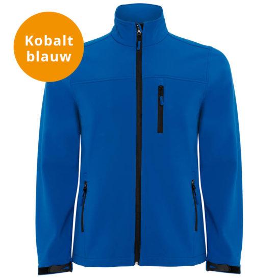 Kobalt Blauwe Softshell Jas2