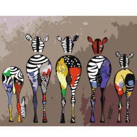 Zebra Schilderen Op Nummers 2